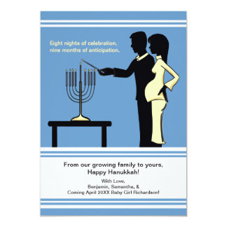 Hanukkah Pregnancy Announcement Cards 5x7