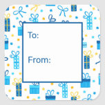 """Hanukkah Presents Gift Tag<br><div class=""""desc"""">These fabulous gift tags would look great on all your Hanukkah gifts.  They are so festive with blue and gold Hanukkah presents and Stars of David sprinkled all over.  They'll look so amazing on your gifts.</div>"""