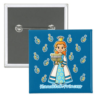 Hanukkah Princess Button