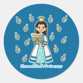 Hanukkah Princess Classic Round Sticker