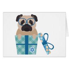 Hanukkah Pug Gift Card at Zazzle