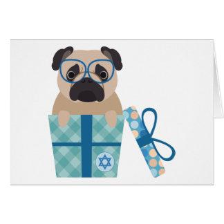 Hanukkah Pug Gift Card
