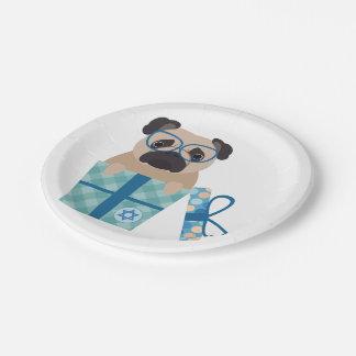 Hanukkah Pug Gift Paper Plate