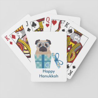 Hanukkah Pug Gift Playing Cards