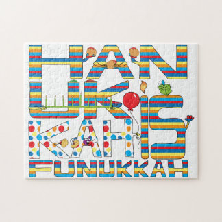 "Hanukkah Puzzle for Kids/Wh ""Hanukkah is Funukkah"""