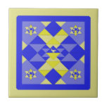 Hanukkah Quilt Ceramic Tile