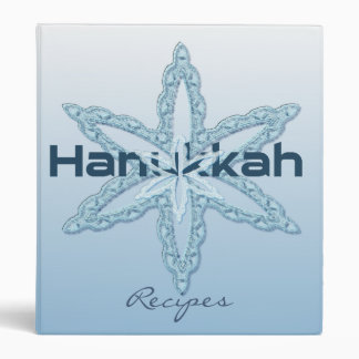 Hanukkah Recipes 3 Ring Binder