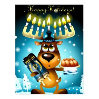 Hanukkah Reindeer Postcard