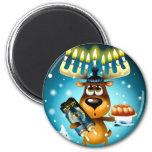 Hanukkah Reindeer Refrigerator Magnets
