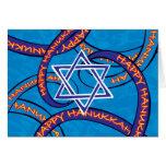 Hanukkah ribbons greeting card