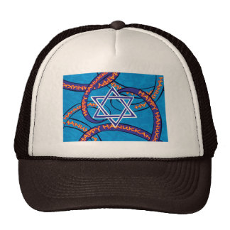 Hanukkah ribbons trucker hat