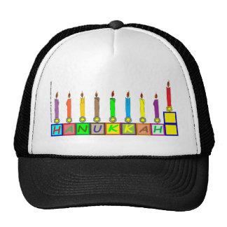 Hanukkah s blocks menorah trucker hat