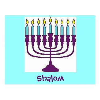 Hanukkah Shalom Postcard