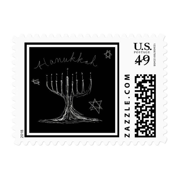 Hanukkah Sketch Stamp