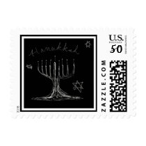 Hanukkah Sketch Stamp
