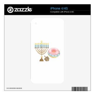 Hanukkah Skin For iPhone 4S