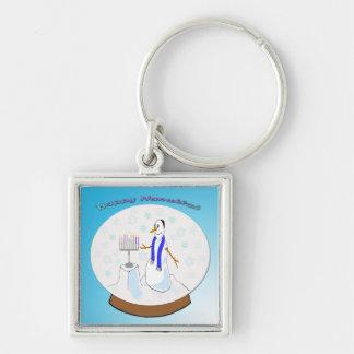 Hanukkah - Snow Globe Snowman Keychain