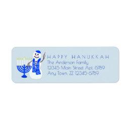 Hanukkah Snowman Chrismukkah Add Your Details Label