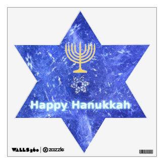 Hanukkah Snowstorm Menorah Wall Decal