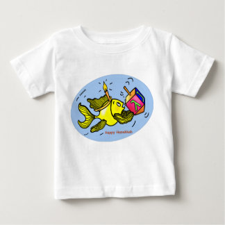 Hanukkah Sparky Fish Comic Funny Cute Baby T-shirt