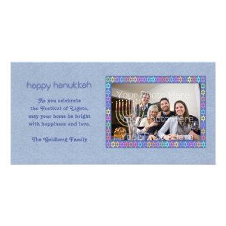 Hanukkah Star Frame Photo Card