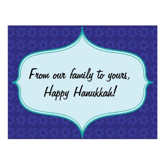 Hanukkah Star Greeting Postcard