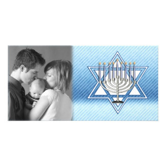 Hanukkah Star Menorah Card