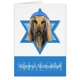 Hanukkah Star of David - Afghan Stationery Note Card