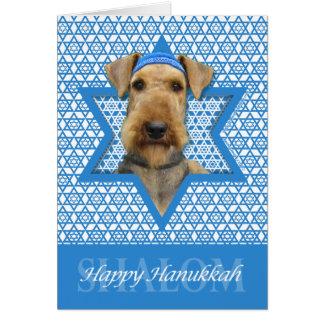 Hanukkah Star of David - Airedale Terrier Card