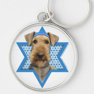 Hanukkah Star of David - Airedale Terrier Keychain