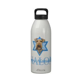 Hanukkah Star of David - Airedale Terrier Reusable Water Bottles