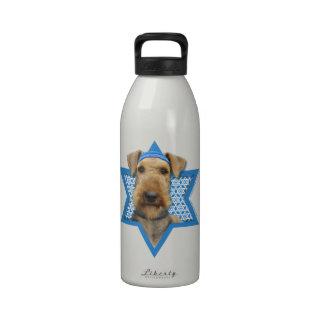 Hanukkah Star of David - Airedale Terrier Drinking Bottles