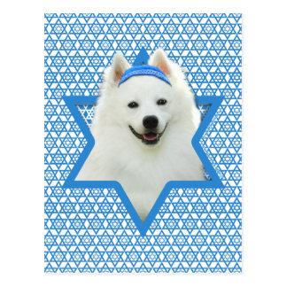 Hanukkah Star of David - American Eskimo Dog Postcard