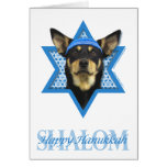 Hanukkah Star of David - Australian Kelpie Stationery Note Card