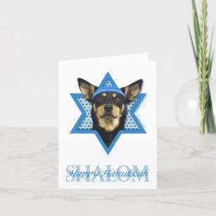 Hanukkah Star of David - Australian Kelpie Holiday Card