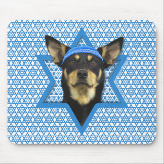 Hanukkah Star of David - Australian Kelpie Mouse Pad