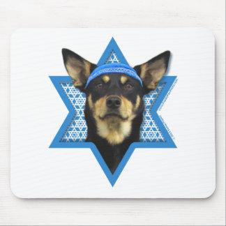 Hanukkah Star of David - Australian Kelpie Mouse Pads