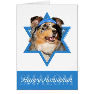 Hanukkah Star of David - Australian Shepherd - Gus Card