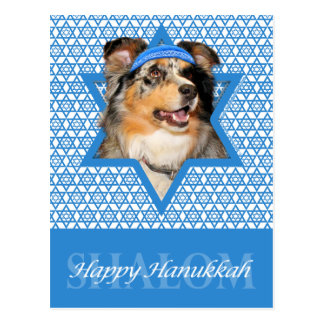 Hanukkah Star of David - Australian Shepherd - Gus Postcard
