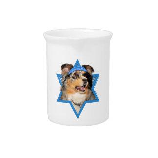 Hanukkah Star of David - Australian Shepherd Pitcher