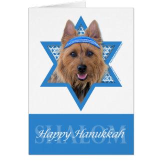 Hanukkah Star of David - Australian Terrier Stationery Note Card