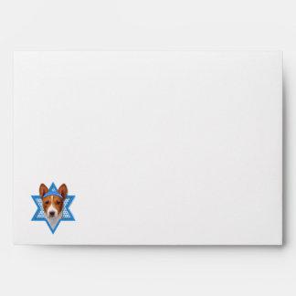 Hanukkah Star of David - Basenji Envelope