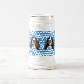 Hanukkah Star of David - Basset Hound - Jasmine Beer Stein
