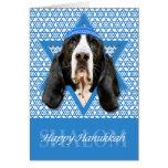 Hanukkah Star of David - Basset Hound - Jasmine Stationery Note Card