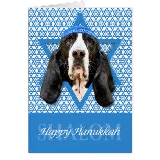 Hanukkah Star of David - Basset Hound - Jasmine Card