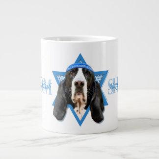 Hanukkah Star of David - Basset Hound - Jasmine Giant Coffee Mug