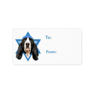 Hanukkah Star of David - Basset Hound - Jasmine Label