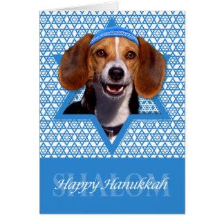 Hanukkah Star of David - Beagle Stationery Note Card