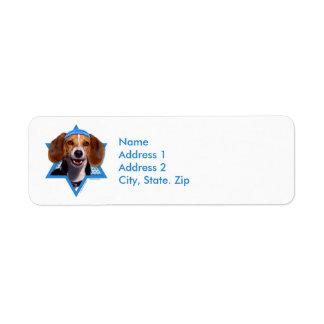 Hanukkah Star of David - Beagle Label