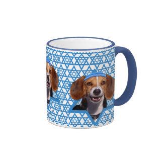 Hanukkah Star of David - Beagle Ringer Mug